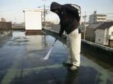屋上の洗浄