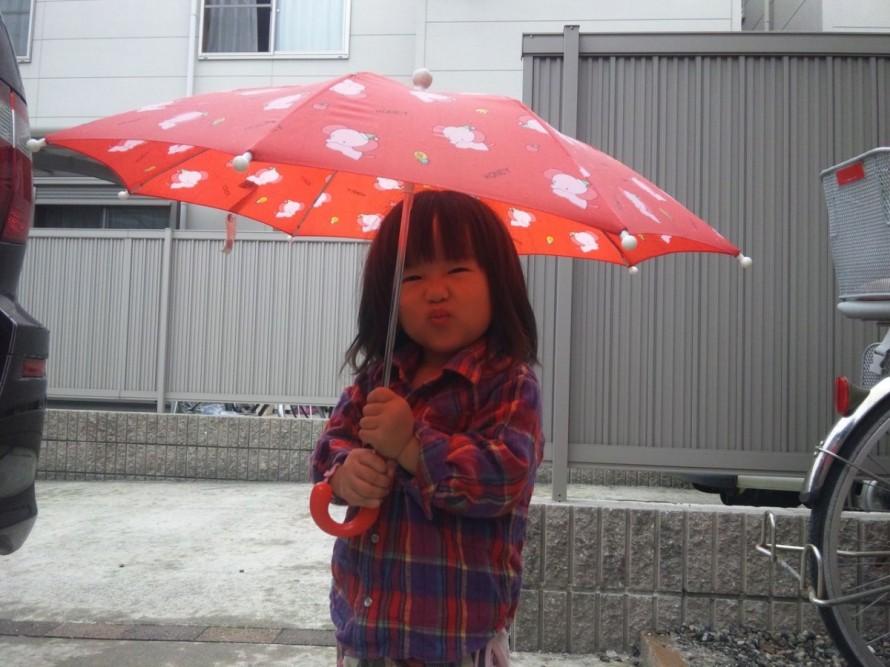 傘を気にいった娘